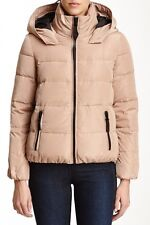 French Connection Hooded Down Puffer Coat ~ Small, Beige/Peach ~NWT ~Retail $319