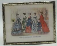 Antique 1869 Godey's Lady's Book Fashion Advertising Print Lithograph