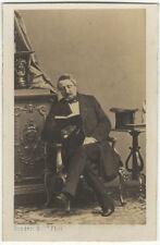 Photo Disdéri Carte de Visite Albuminé Homme Vers 1860