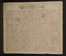 Missouri Macon County Map Lingo or Russell Township 1897 Dbl Side L20#52