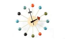 Horloge murale  inspiration George Nelson ball clock multicolore
