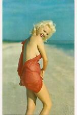 Sexy Pin-Up Girl Platinum Blonde Beach Vtg Photographer Bunny Yeager Postcard