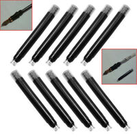 10Pcs Black Disposable Ink Cartridges Refills School Office For Fountain Pen cfg