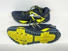 Brooks Cascadia 10 Mens 8.5D EUR 42 Blue Yellow Trail Running Shoes