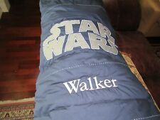 Star Wars POTTERY BARN KIDS Sleeping Bag Navy Walker Embroidered