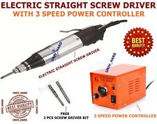 PROFESSIONAL ELECTRIC STRAIGHT SCREWDRIVER WITH 3 SPEED POWER CONTROLLER
