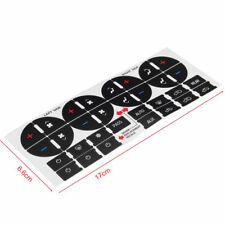 New 1 Set AC Button Repair Kit Stickers Dash Replacement For Chevrolet GMC Yukon