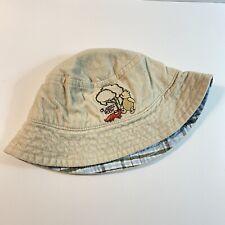 Disney Classic Winnie the Pooh Fox Baby Hat corduroy Plaid bucket hat toddler  C