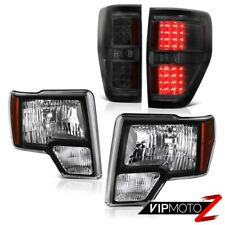 2009-2014 Ford F150 Raptor LEFT RIGHT Black Headlights Signal Brake Tail Lights