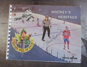 1973-74 NHL Hockey Hall Of Fame Program Hockey's Heritage Signed Frank Udvari
