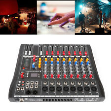 8-Channel Usb Audio Mixer Console Live Studio Dj Stage Music Mixing Amplifier