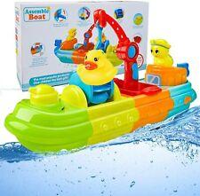 Badespielzeug für Kleinkinder 1-3 Badewanne Wind Up Boot Wasserspiel Spray Spiel