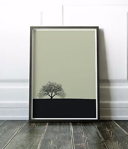 Tree Print - Minimalist and Modern Wall Art Print - Various Sizes Available