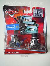 CARS Disney pixar 2015 HEAVY METAL ROCKY & EDDIE raro mattel mater 1:55 maclama
