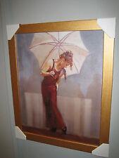 Marca España impresionante foto 'Parasol me magnífico marco dorado 40x50cm