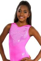 GK ELITE Leotard GYMNASTICS Sequinz PRETTY IN PINK Bling Leo Size AS Adult Small