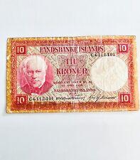 More details for landsbanki islands 1928 10 kronur-iceland banknote (vg)