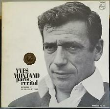 YVES MONTAND paris recital 1963 LP Mint- Promo PCC-202 Philips 1963 Mono USA
