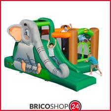 Castello Incantato per Bambini Giochi Gonfiabili Scivolo Elefantopoli Tappeto
