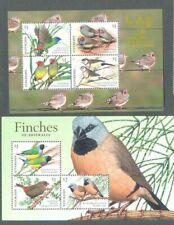 Australia- Birds -Finches 2018  set 2 min sheets mnh