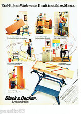PUBLICITE ADVERTISING 056  1982  etabli-étau Workmate  Black & Decker