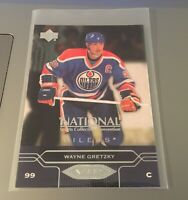 WAYNE GRETZKY OILERS 2004 UPPER DECK NATIONAL PROMO VIP#5 ODDBALL HIGH BOOK $$