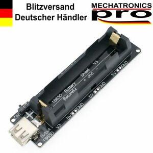 18650 Battery Shield V3 Micro USB Wemos ESP32 ESP-32 LED für Arduino Raspberry