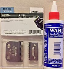 WAHL PROFESSIONAL 2 HOLE BLADE #1045-100 UPC, 043917104515 PLUS 4 OZ WAHL OIL