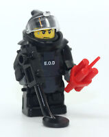 SWAT Bomb Squad EOD Disposal Specialist Minifigure made with real LEGO(R) parts