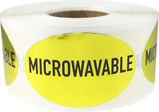 Microwavable Grocery Market Food Stickers, 1.25 x 2 Inches, 500 Labels on a Roll