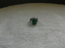 men - sterling silver - green turquoise ring size 9