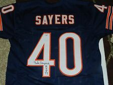Gale Sayers SIGNED Chicago Bears Jersey W/ HOF 77 PSA DNA COA and HOLO