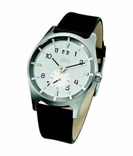 Elegante runde Armbanduhren mit Armband aus echtem Leder für Erwachsene