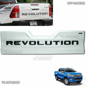 16 17 Fits Toyota Hilux Revo Sr5 M70 M80 4x4 White Rear Back Tailgate Outer Lid