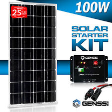 GENSSI® 100W MONO Solar Panel 12V 12 Volt Off Grid Battery Charger RV Boat Home