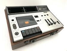 SONY Stereo Cassette Corder TC 133 + Speakers Vintage 1972 Refurbished Like NEW