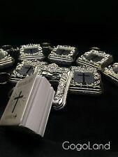 60 Bible Silver Keychain Favor Baptism First communion spanish Llaveros
