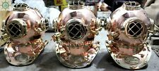 LOT OF 3 SOLID COPPER BRASS DIVING DIVERS HELMET US NAVY MARK V 18 GIFT ITEM