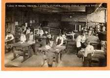Real Photo Postcard RPPC - Manual Training Class 6th & 7th Grades Sleepy Eye MN