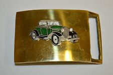 "Vintage ""1930"" FORD Model A Convertible Hot Rod Solid Brass Belt Buckle RARE"