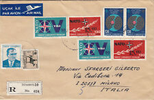 TURKEY (w004) 1972  reg.let.  st. air mail to ITALY