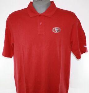 Mens Reebok NFL Team Apparel San Francisco 49'ers Red Polo Golf Style Shirt