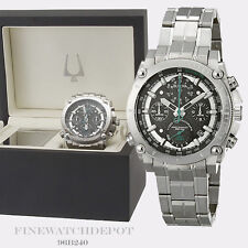 Authentic Bulova Men's Stainless Steel Chronograph Precisionist Watch 96B241 LTD