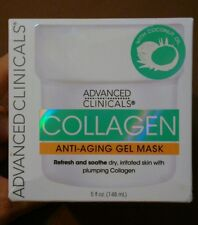 ADVANCED CLINICALS Collagen Anti-Aging Gel Mask, BRAND NEW
