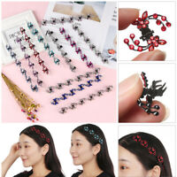 6PCS Girls Sweet Crystal Rhinestone Butterfly Mini Hair Claws Clips Pin Clamps