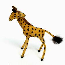 Vintage Wagner Kunstlerschutz Flocked Giraffe Animal Figure     BG10