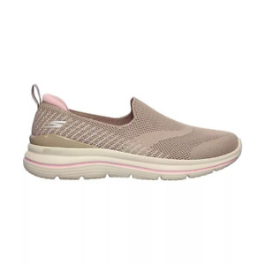 Skechers GoWalk Stretch Fit-Special Day Women's Shoe - Taupe/Pink