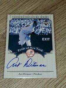 2003 Upper Deck Yankees Signature Series Pride of New York Art Ditmar auto