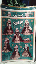 Vintage Hallmark 1996 Holiday Barbie Stickers (Sealed- Unopened package)