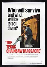 THE TEXAS CHAINSAW MASSACRE * CineMasterpieces 1974 HORROR ORIGINAL MOVIE POSTER